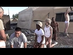Army gay porn masturbation fatigues couch and hot men fuck sex movie