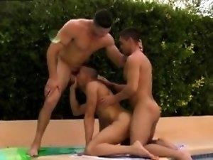 Mature gay with younger man porn xxx A Rampant Poolside Fuck