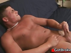 Straight guy fucks gay cock for money