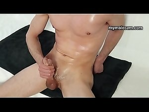 Couch Fun Solo Boy Masturbation And Cum Shot