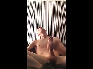 Skinny White Boy Got A Big Ass Dick Cum Shot!!!