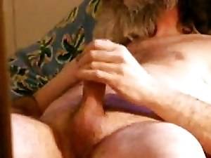 bearded daddy jacking