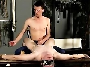 Tickling bondage male gay Wanked And Waxed To The Limit