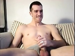 Hot man eats his own cum
