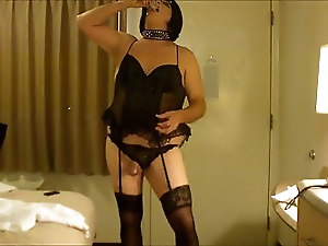 CD Sissy Slut Amber Nipple Orgasm and Eats Cum